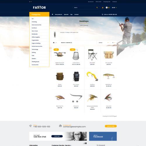 国外商城站模板建站包安装售后临时域名渔具钓鱼用具PHP响应式站