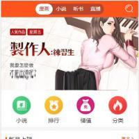 四合一小说漫画听书视频网站源码