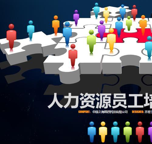 人力资源员工培训PPT模板