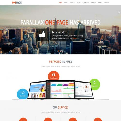 全英文网站设计、网站建设公司响应式网站模板源代码(静态页面)